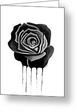 Weeping Black Rose Greeting Card by Darrell Ross