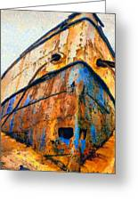 Weeping Ship Greeting Card by George Rossidis