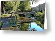 Weeping Willow Bridge Greeting Card by Robert Culver