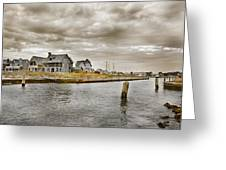 Welcome To Bald Head Island Greeting Card by Betsy C  Knapp