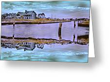 Welcome To Bald Head Island II Greeting Card by Betsy C  Knapp