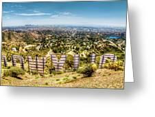 Welcome To Hollywood Greeting Card by Natasha Bishop