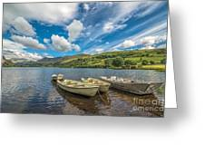 Welsh Boats Greeting Card by Adrian Evans