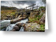 Welsh Bridge Greeting Card by Adrian Evans