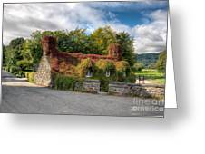 Welsh Cottage Greeting Card by Adrian Evans