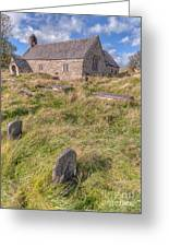 Welsh Tombs Greeting Card by Adrian Evans