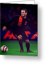 Wesley Sneijder  Greeting Card by Paul Meijering
