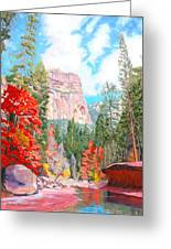 West Fork - Sedona Greeting Card by Steve Simon