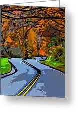 West Virginia Curves 2 Line Art Greeting Card by Steve Harrington