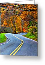 West Virginia Curves 2 Oil Greeting Card by Steve Harrington