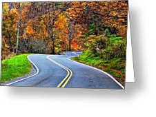 West Virginia Curves 2 Greeting Card by Steve Harrington