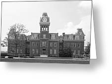 West Viriginia University Woodburn Hall Greeting Card by University Icons