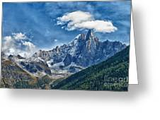 Western Alps In Chamonix Greeting Card by Juergen Klust
