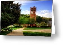 Western Carolina University Alumni Tower Greeting Card by Greg and Chrystal Mimbs