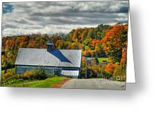 Western Maine Barn Greeting Card by Alana Ranney