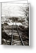 Western Tracks Greeting Card by John Rizzuto