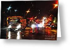 Wet City 4 Greeting Card by Sarah Loft