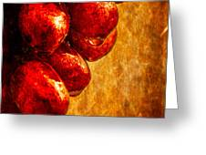 Wet Grapes Three Greeting Card by Bob Orsillo