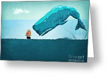 Whale Greeting Card by Mark Ashkenazi