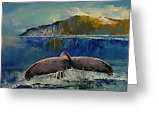 Whale Song Greeting Card by Michael Creese