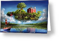 What A Wonderful World Greeting Card by Turquoise Brush