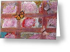 What Are These Butterflies Doing On The Inside? Greeting Card by Anne-Elizabeth Whiteway
