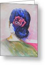 What Lies Ahead Series.. Watching Time Go By Greeting Card by Chrisann Ellis