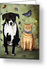What's Bugging Luke And Molly Greeting Card by Leah Saulnier The Painting Maniac