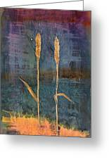 Wheat Couple Greeting Card by Carolyn Doe