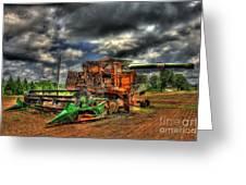Wheat Field Fire 2 Greeting Card by Reid Callaway