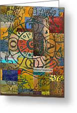 Wheel Of Fortune Greeting Card by Corporate Art Task Force