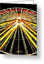Wheel Of Light Greeting Card by Benjamin Yeager