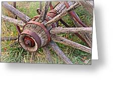 Wheel Of Old Greeting Card by Marty Koch