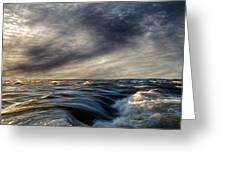Where The River Kisses The Sea Greeting Card by Bob Orsillo
