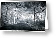 Where The Road Leads Greeting Card by John Rizzuto