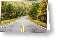 Where this Road will Take You - Talimena Scenic Highway - Oklahoma - Arkansas Greeting Card by Silvio Ligutti