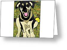 Where's The Ball Greeting Card by Merrie Giles