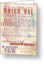 Which Way Greeting Card by Heather Applegate