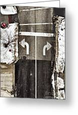 Which Way Greeting Card by Margie Hurwich