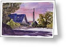 Whidbey Getaway Greeting Card by Barry Jones