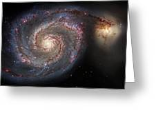 Whirlpool Galaxy 2 Greeting Card by The  Vault - Jennifer Rondinelli Reilly