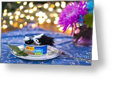 Whiskers Special Birthday Pate Greeting Card by Juli Scalzi