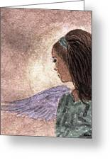 Whisper Of Wings Greeting Card by Angela Davies