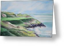 Whistling Straits 7th Hole Greeting Card by Deborah Ronglien