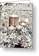 White Christmas Greeting Card by Mo T