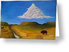 White Cloud Greeting Card by John Lyes