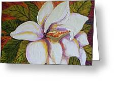 White Magnolia Greeting Card by Paris Wyatt Llanso