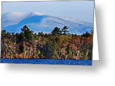 White Mountains Greeting Card by Skip Willits