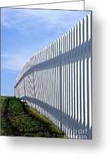 White Picket Fence Greeting Card by Olivier Le Queinec