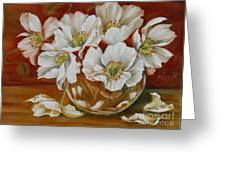 White Poppies Greeting Card by Summer Celeste